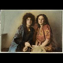 Vintage Hand Colored Photograph Eva Weiss, circa 1977