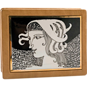 Fabulous Stenciled Jewelry box, Signed with Edition Numbers.