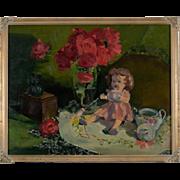 Nancy Seamons Crookston Oil Painting, Rare Still Life