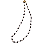 Fabulous Mid-Century Hattie Carnegie Glass Bead Necklace