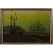 "Original Serigraph by Elton Bennett, ""The Offshore Wind"""