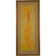 "Mid Century Ganz Propper Serigraph, ""Radiant Morning"""