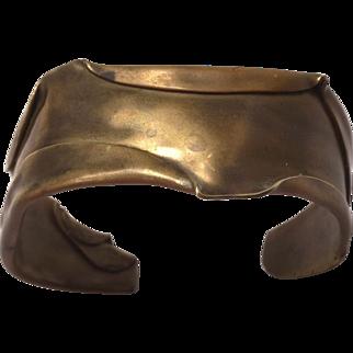 Vintage 1970's Brutalist Copper Cuff Bracelet