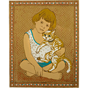 "Original Serigraph ""Innocence Series"", by Dorr Bothwell, 1979"
