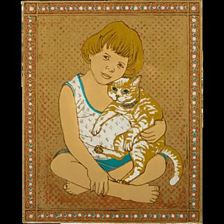 "Original Serigraph ""Innocence Series"", by Dorr Bothwell, 1979"