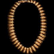 Vintage 1980's Anne Klein Haute Couture Bear Claw Necklace, Lion Logo