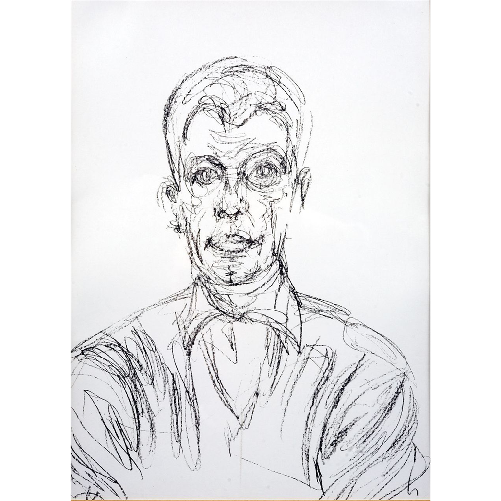 Limited edition lithograph by alberto giacometti diego for Derriere le miroir giacometti