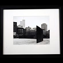 Gelatin Silver Photograph by Gwen Thomas, Richard Serra Sculpture, circa 1975/1980