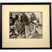 African Ethnographic Black and White Gelatin Photograph, Nubian Women, circa 1920's