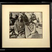 African Ethnographic Black and White Gelatin Photograph, Nubian Women, circa 1920's