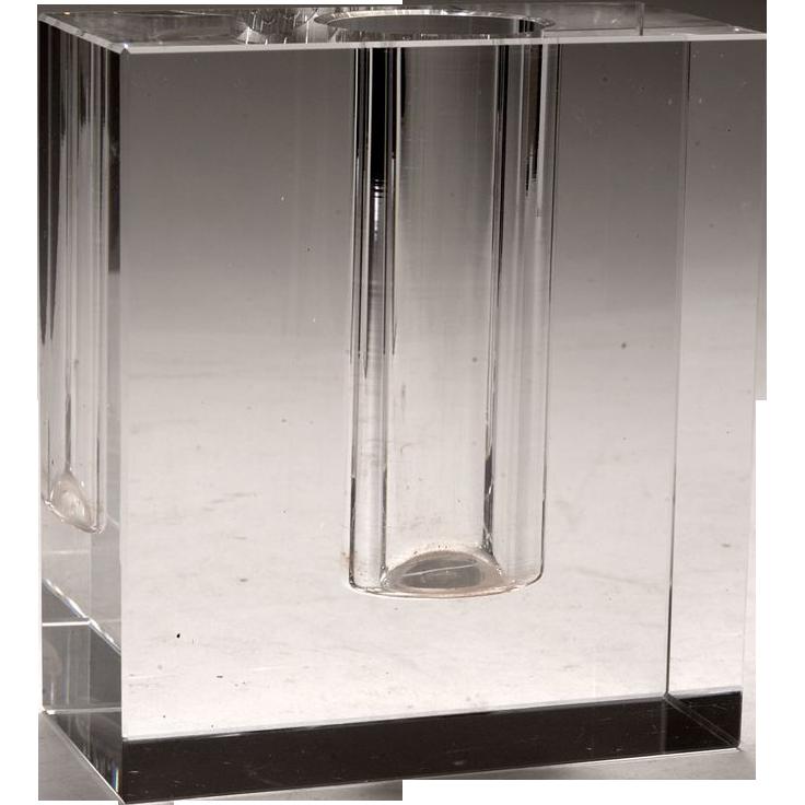 Moderne glass block bud vase from cypressstudio on ruby lane - Moderne glasvasen ...