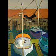 Eleanor Rappe Painting, circa 1967