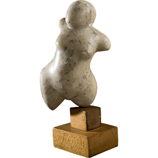 20th Century Marble Sculpture, Female Figurine