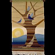 Mid Century WoolenTapestry by Elisabeth Hablik-Lindemann , Riaurobindo Ashram, Hablik Handicraft