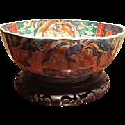 "Beautiful Imari Large Chinese Bowl 11"" x 5"", antique"