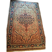 """Finely Knotted  Persian Malayer Oriental Rug, 4'6"""" X 6'6"""" , ca. 1880-1900 Free shipping"""