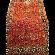 "Fine Persian Mohajeran Sarough Oriental Rug, ca.1900 handmade of purest wool 4'x6'2"""