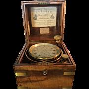 Frodsham & Keen Antique SHIP'S Precision Clock CHRONOMETER No.3078 Manufactured 17 South Castle Street, Liverpool ca. 1860 Antique Nautical Collectable & 1st edition Frodsham Book