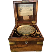 Frodsham & Keen Antique SHIP'S Precision Clock CHRONOMETER No.3078 Manufactured 17 South Castle Street, Liverpool ca. 1860 Antique Nautical Collectable & 1st edition Frodsham Book