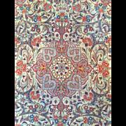 "Beautiful  Rare-N.W. Persian Antique BIJAR GULI FARANG ""Foreign Flower"" Oriental Rug , 3'9"" x 5'7"", Great Price! Free appraisal-Free Shipping"