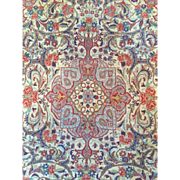 "Beautiful  Rare-N.W. Persian Antique BIJAR GULI FARANG ""Foreign Flower"" Oriental Rug , 3'9"" x 5'7"", Great Price! Free appraisal-Free Shipping"