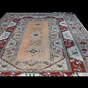 "Large Geometric KONYA ORIENTAL RUG handmade in Turkey 9' X 12'8"" Free appraisal-Free shipping"
