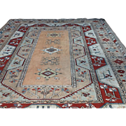 "Large Beautiful Geometric KONYA ORIENTAL RUG handmade in Turkey 9' X 12'8"" Free appraisal-Free shipping"