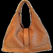 Large Elegant Like New BOTTEGA VENETA Signature Woven Calf  Skin Leather Purse  with  Double Handles- Made in Italy-original dust bag-free shipping