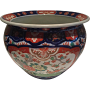 "Japanese IMARI Porcelain JARDINIERE   Large Table Top  7 3/4"" x 9 3/4"" x 5"" Beautifully Painted-Hard to find size Free Shipping"
