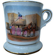 Collector-Antique Scene Occupational Shaving Mug-very nice quality-free shipping