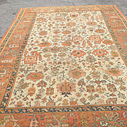"""Priced to sell! Wonderful Antique Oushak hand woven in Turkey-Decorator's delight! Size: 9 x 13' 4"""" Free shipping"""