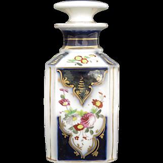 """19th Century Antique French Porcelain Perfume Bottle """"Porcelaine de Bayeux"""" Flacon de Parfum"""