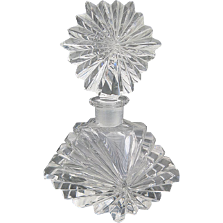 Art Deco Vintage French Cut Crystal Perfume Bottle by Baccarat