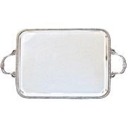 Antique French Silver Plated Serving Tray