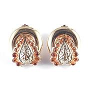 Rossi Bijoux France Dore Earrings