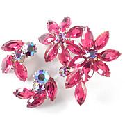 Weiss Rhinestone Art Glass Brooch Pin Earring Demi Parure Set
