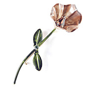 Original by Robert Enamel Rhinestone Calla Lily Flower Brooch Pin