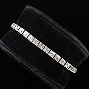 Dorsons Sterling Silver Rhinestone Bracelet