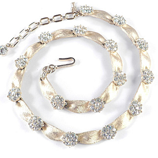 Trifari Rhinestone Birthday Necklace
