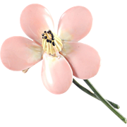 Original by Robert Enamel Flower Blossom Brooch Pin