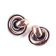 Renoir Copper Door Knocker Earrings