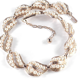 Trifari Faux Pearl Necklace