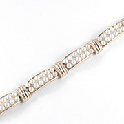 Trifari Faux Pearl Panel Bracelet