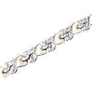 Trifari Rhinestone Link Bracelet