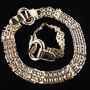 Givenchy Buckle Necklace Bracelet Demi Parure Set