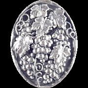 Napier Grape Cluster Leaf Brooch Pin Pendant