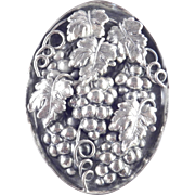 Napier Grape Cluster Leaf Brooch Pin Pendant