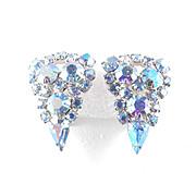 Rhinestone Shield Earrings