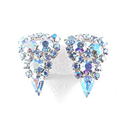 Rhinestone Shield Earrings