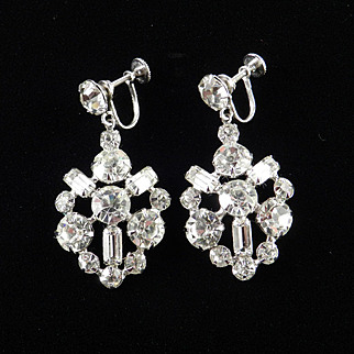 Rhinestone Pendant Dangle Earrings
